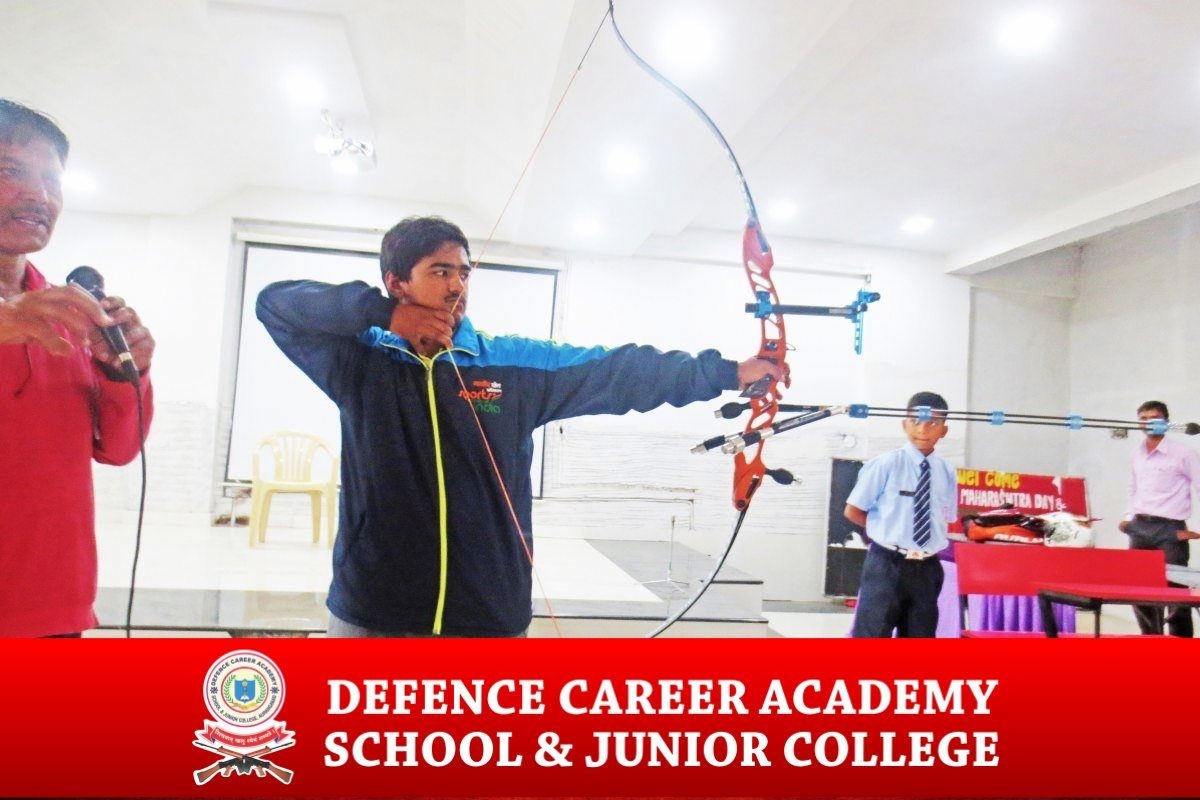 indoor-activities-bow-and-arrow-physical-excercises-dca-academy-best-NDA-training-institute-spi-aurangabad