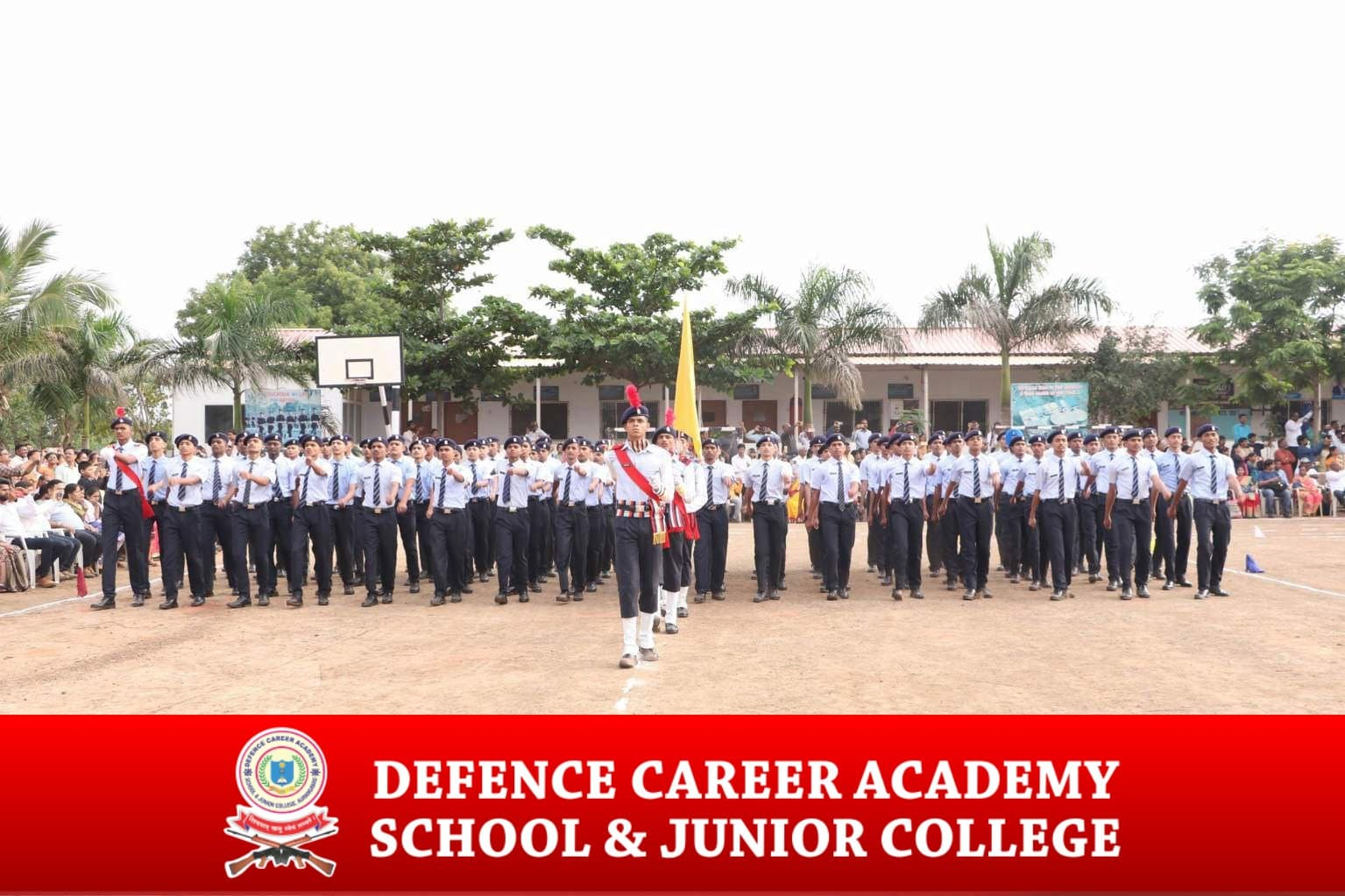 flag-march-defence-career-academy-in-maharashtra-army-public-school-in-aurangabad