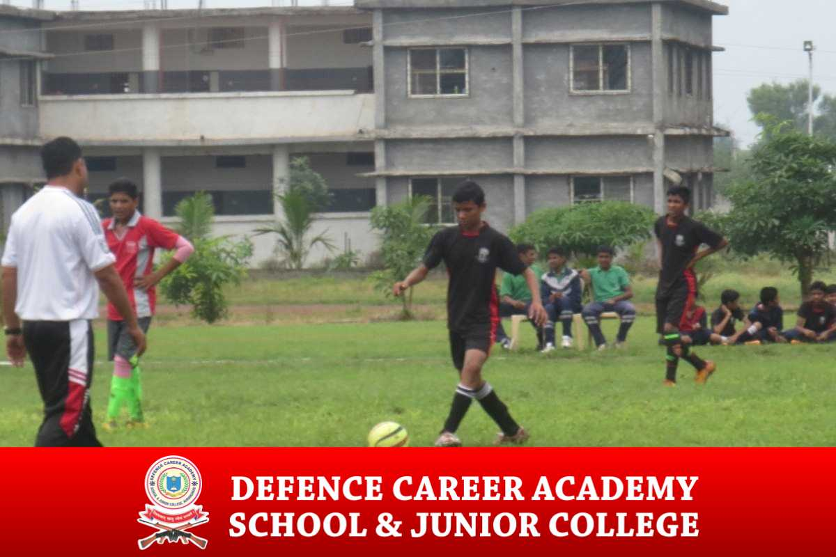 Football-match-DCA-academy-best-coaching-institute-for-NDA-ssb-army-navy-courses